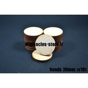 Socles ronds 30 mm pleins MDF (x10)