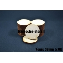 Socles ronds 32 mm pleins MDF (x10)