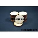 Socles ronds 32 mm pleins MDF (x10)