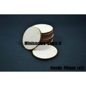 Socles ronds 40 mm pleins MDF (x5)