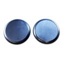 Socles ronds bords arrondis 40 mm pleins PLASTIQUE NOIR (x5)