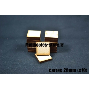 Socles carrés 20 mm pleins MDF (x10)