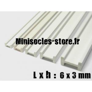 Tige pour poutre métallique en I 6x3mm (30cm)