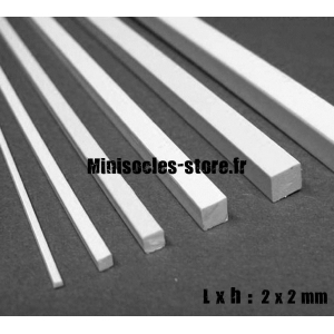 Tige carrée 2x2mm (30cm)