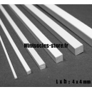 Tige carrée 4x4mm (33cm)