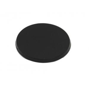 Socle rond 60 mm plein PLASTIQUE NOIR (x1)