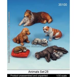 Set de chiens (x6) Echelle 54mm