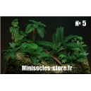 Photo Découpe Plantes Jungle (N°5) 1:35 MINISOCLES