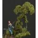 Filet de Floquage / Feuillage feuilles 0.4mm Vert Bouleau