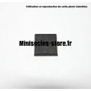 Socle carré 20 mm CITADEL plein PLASTIQUE NOIR (x1)