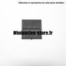 Socle carré 25 mm CITADEL avec fente droite PLASTIQUE NOIR (x1)