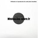Socle rond 25 mm CITADEL avec fente PLASTIQUE NOIR (x1)