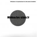 Socle rond 40 mm CITADEL plein PLASTIQUE NOIR (x1)