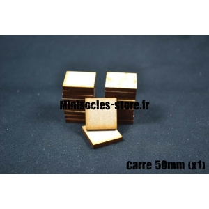 Socle carré 50 mm plein MDF (x1)
