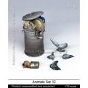 Set d'animaux des villes N°2 (x6) Echelle 54mm