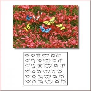 Set de 36 papillons échelle 54-75mm