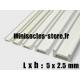 Tige pour poutre métallique 5x2.5mm