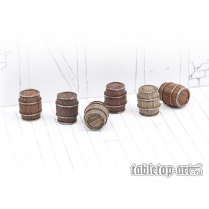 Petits tonneaux (x6) 28-32mm N°2