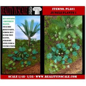 Kit Résine + Photo Découpe Plastique Plantes Jungle (N°1) 1:35