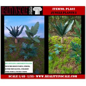 Kit Résine + Photo Découpe Plastique Plantes Jungle (N°2) 1:35