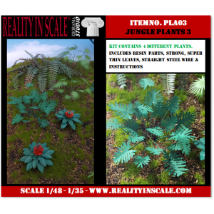 Kit Résine + Photo Découpe Plastique Plantes Jungle (N°3) 1:35