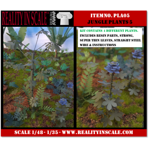Kit Résine + Photo Découpe Plastique Plantes Jungle (N°5) 1:35