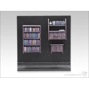 Bibliothèque et Etagères 28mm