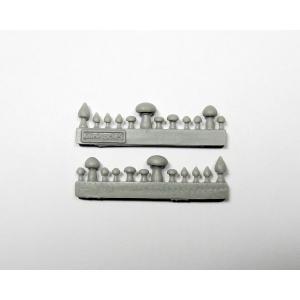 Champignons (Set 1) Echelle 28-32mm