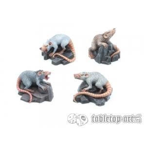 Rats Géants (x4) 28-32mm