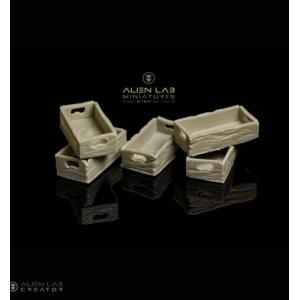 Petites caisses en bois vides (x6)