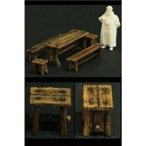 Set de Table, Bancs et Tabourets 1:72