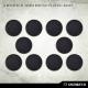 Socles ronds 32 mm pleins PLASTIQUE NOIR (x10)