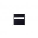 Socles carrés 25 mm avec fente droite (x10)