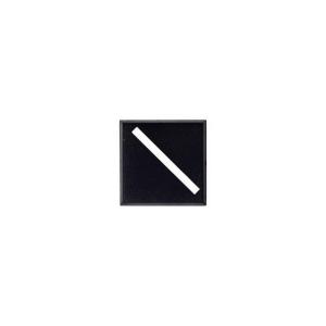 Socles carrés 25 mm avec fente diagonale (x10)