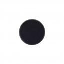 Socles ronds 40 mm pleins PLASTIQUE NOIR (x5)