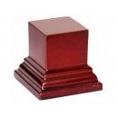 Socle carré petit modèle Acajou