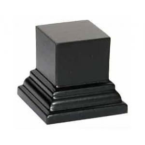 Socle carré petit modèle Noir