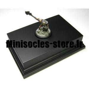 Socle Rectangulaire avec Piédestal 16.5cm Noir