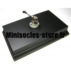 Socle Rectangulaire avec Piédestal 21.5cm Noir