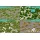 Touffes d'herbe courte début d'automne MINISOCLES
