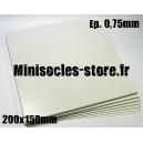 Carte plastique 200x150x0.75