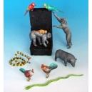 Set d'animaux d'Asie (x9) Echelle 54mm