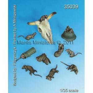 Set de rats (x10) Echelle 54mm