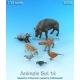 Set d'animaux de la forêt 2 (x7) Echelle 54mm