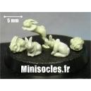 Les petits lapins Grappe 1 MINISOCLES