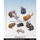 Set de chats (x8) Echelle 54mm