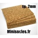 Plaque de liège - 2mm MINISOCLES