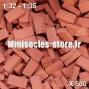 Briques 1/32-35 (x500) Rouge Foncé
