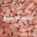 Briques 1/32-35 (x500) Rouge Mélangé