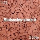 Briques 1/72 (x2000) Rouge Foncé